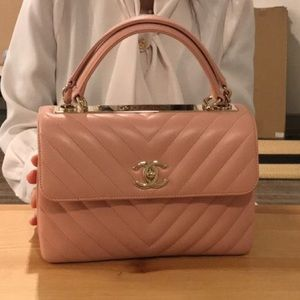 Chanel trendy cc small baby pink